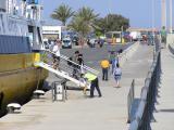 Finally, the handful of foot-passengers leave Pitiusa Nova