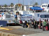 Passengers waiting to travel to Ibiza