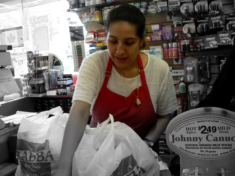 Behind the Counter, ready with a smile....