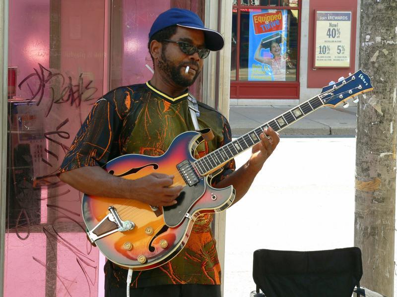 Street musician on Bloor West
