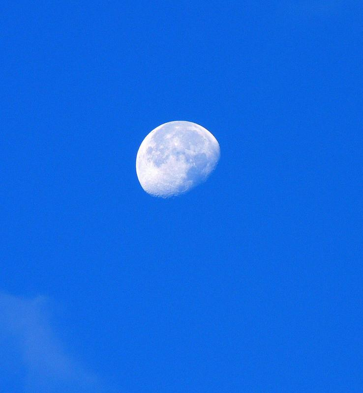 The moon as seen at 7 AM