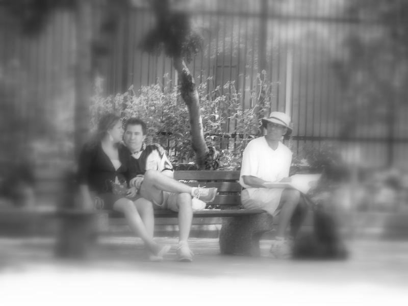 People in the park...