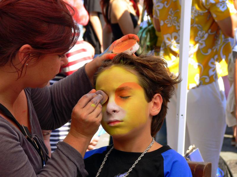 Face painting....