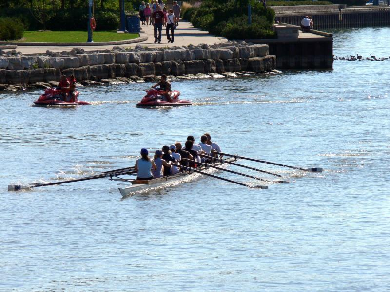 Eights at work on the water...