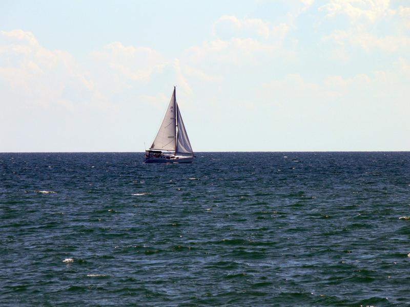 On the lake at Port Credit.