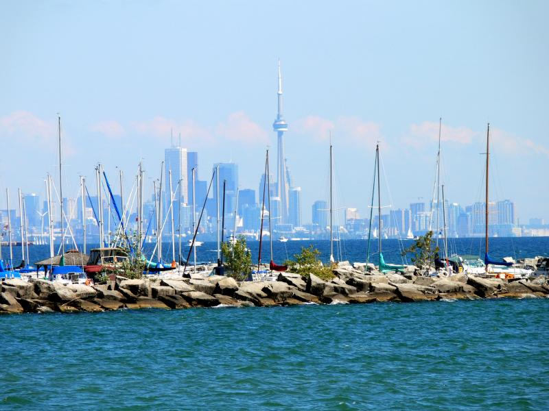City skyline from Port Credit...
