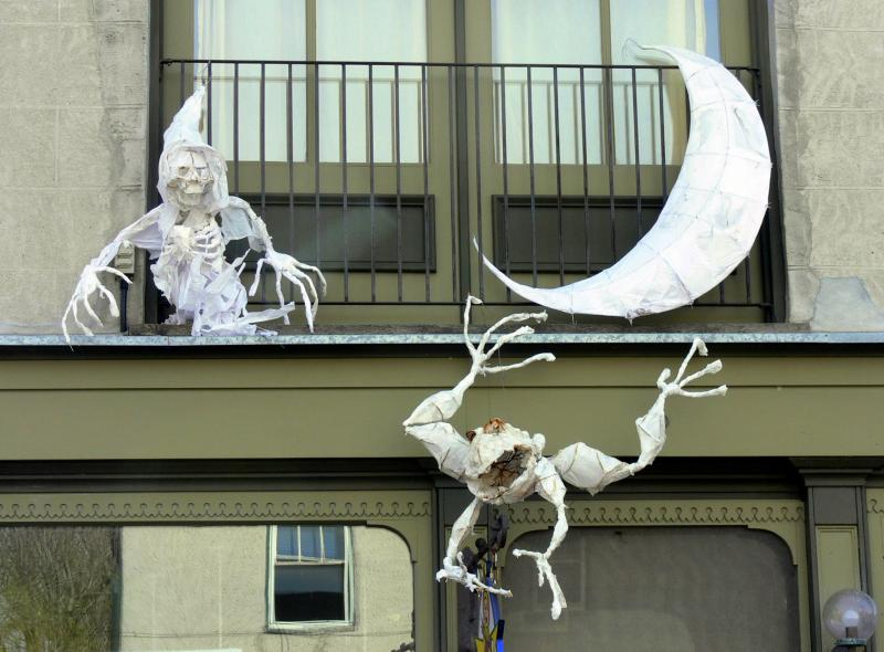 Ghouls, Goblins and other creepy creatures for Halloween in Elora