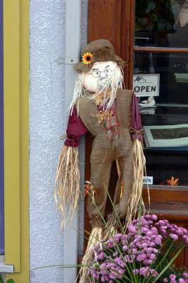 Scarecrow for Halloween in Elora