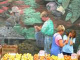 Mural at the market.