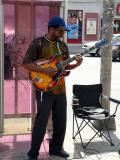 Street musician on Bloor West
