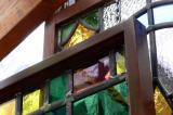 Images of stained glass at the Old Stonehouse in Campbelville