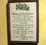 Tavern rules from the Old Mill Inn in Elora