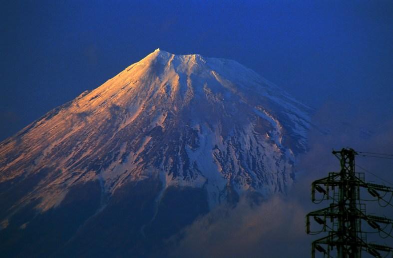 Mt Fuji from the town of Fuji