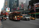Times Square tour Bus