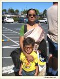 With grandma at Marineworld
