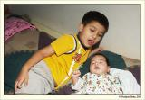 Kunal with little brother Kushal