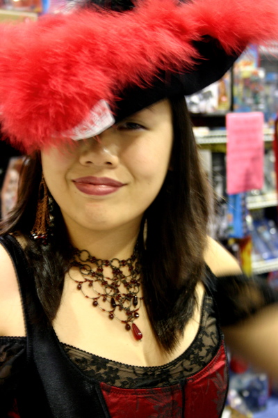 Red Plume Hat