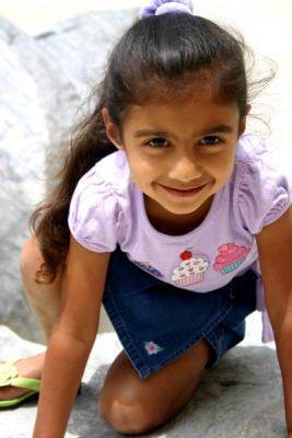 Young Girl With Cupcake Shirt