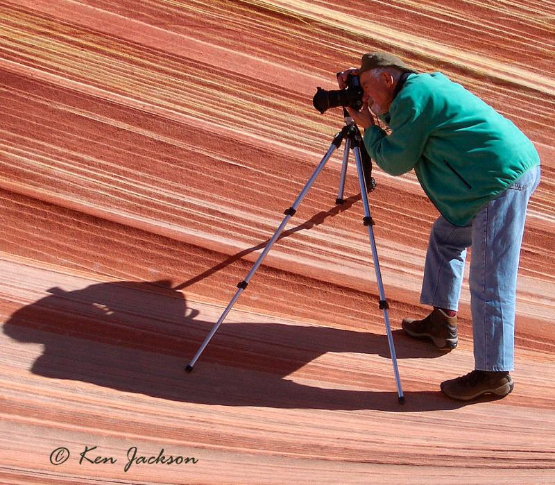 05-02 Franz in Coyote Buttes. Photo by Ken Jackson.jpg
