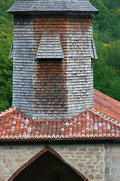Détail du clocher en été