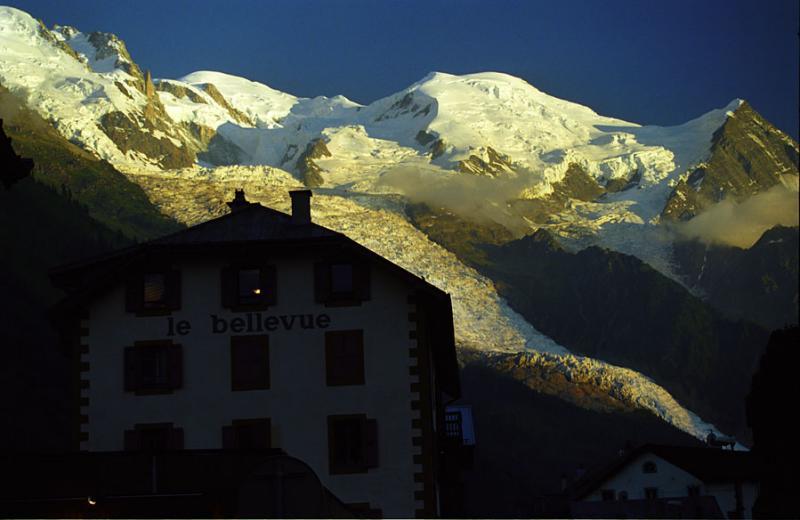 Mont Blanc - coucher de soleil