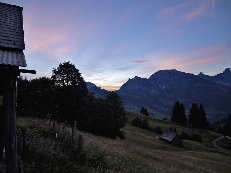 Morgendämmerung im Wägital, Kt. Schwyz