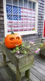Candy store decked out in Halloween and Patriotic Decor.
