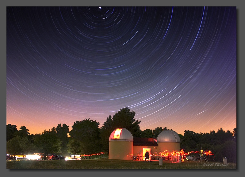 Star Trails over Ashton Observatory