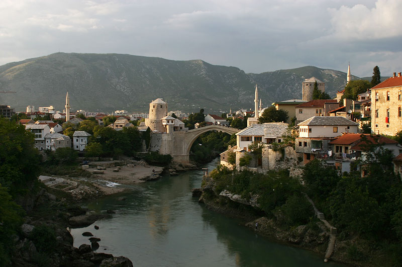 Mostar,located at river Neretva