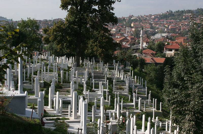 Bosnia,Sarajevo,graveyard on the hill