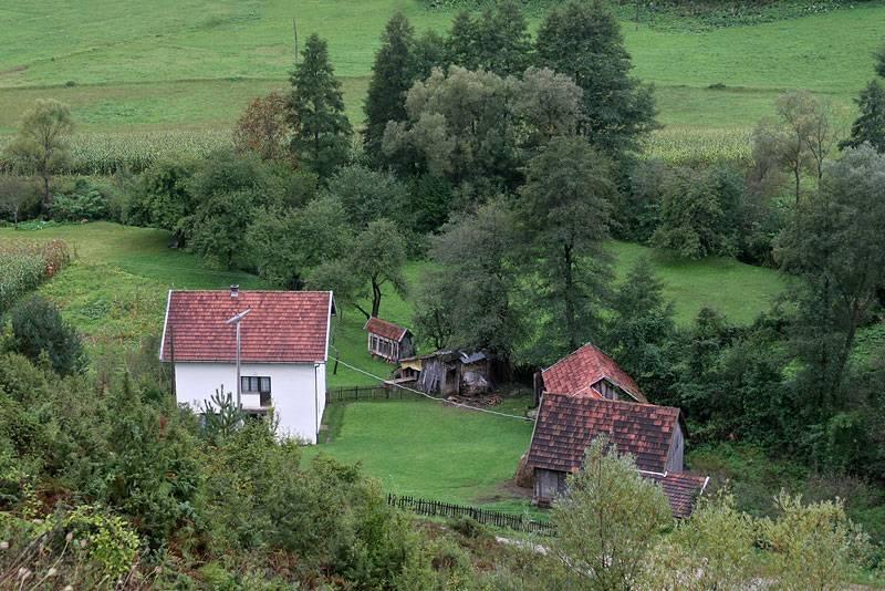 near Bihač,small farm-house