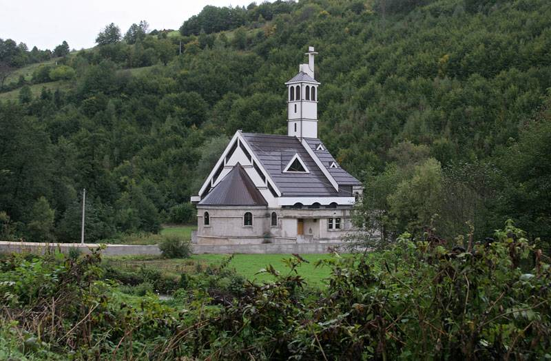 near Jajce,katholic church;Bosnia