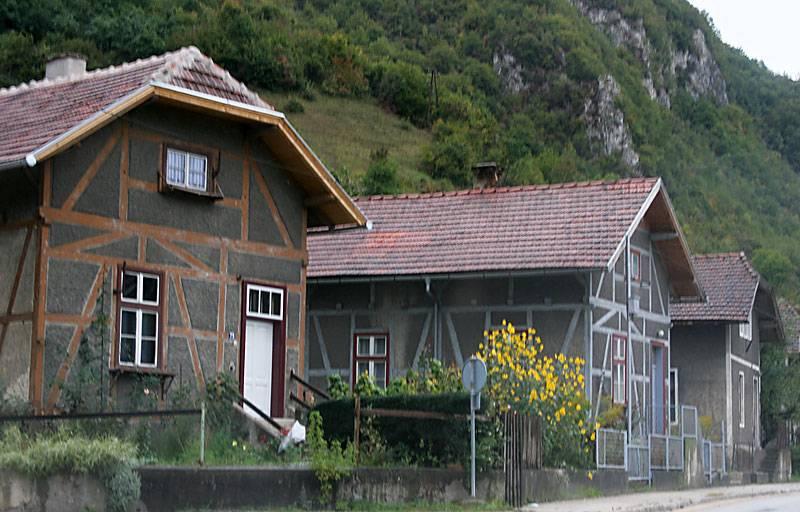 near Jajce,old houses