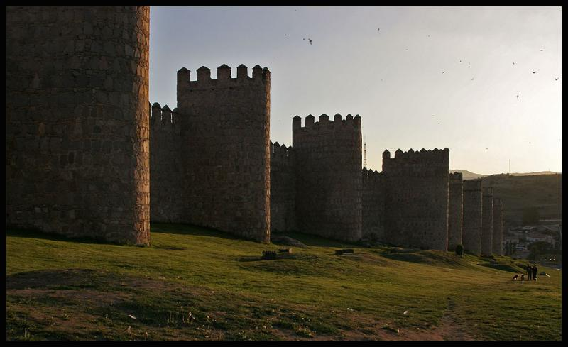 Avila,walls of Middle-Age