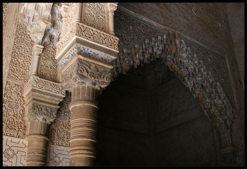 Granada,Alhambra,high art of decoration and ornaments