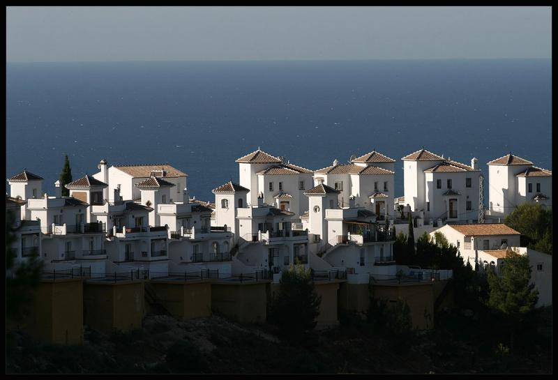 looking down from Frigiliana in the morning