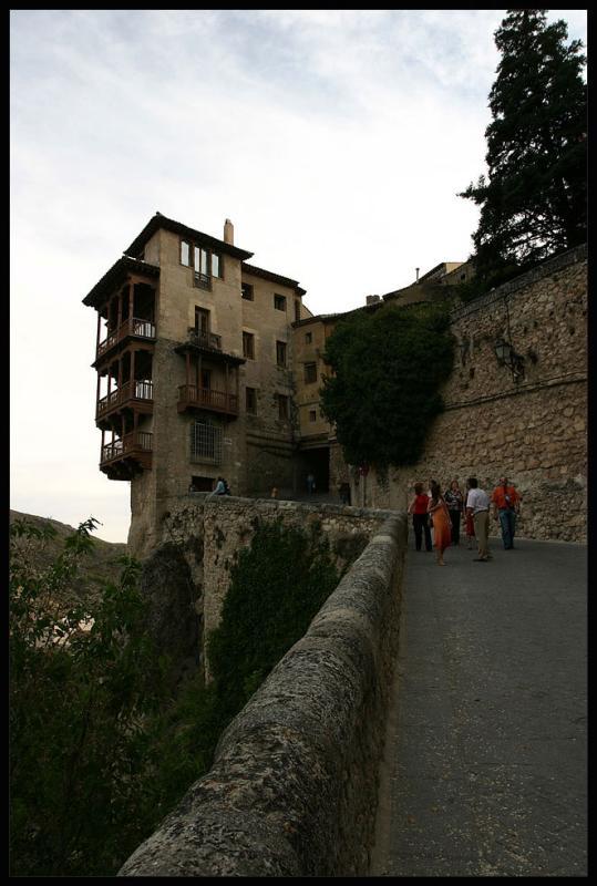 Cuenca,hanging balconies,touristic attraction