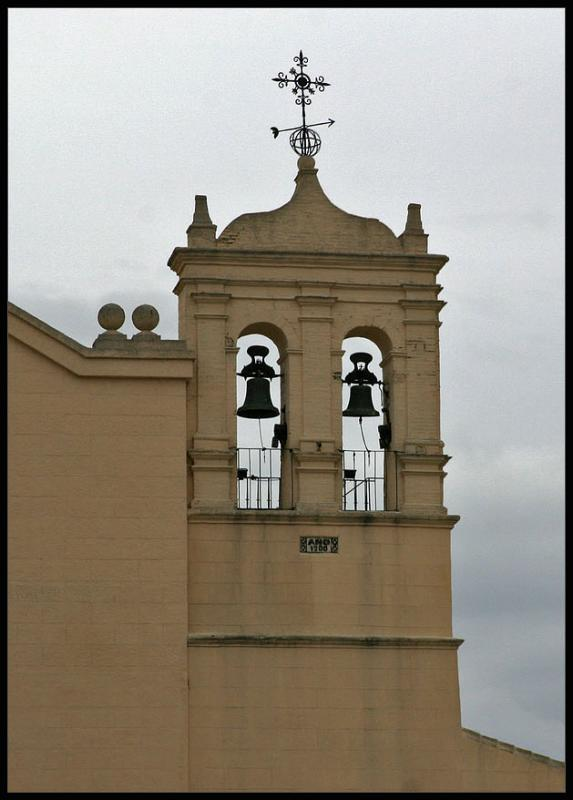 typical clocktower in Spain