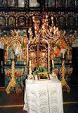 Jedlinka,inside of wooden church