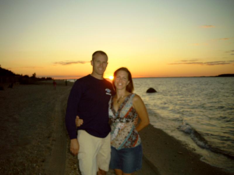Michael and Karen at beach sunset