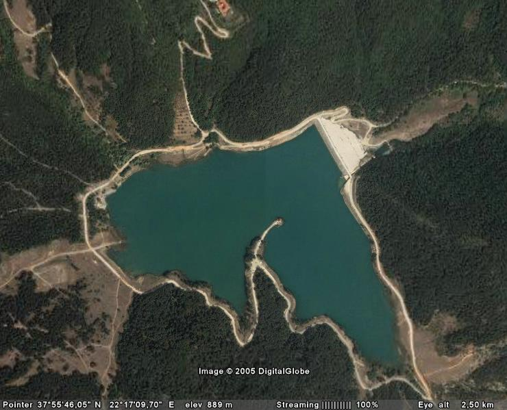 Satellite view, from 2500 meters