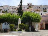The Chora central square, trees sole but shady...
