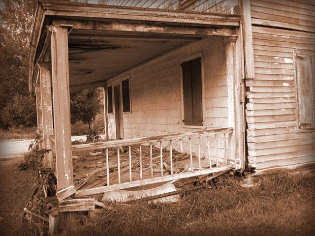 Front porch-sepia