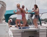 Lake Norman Boating Event Photos dancing women
