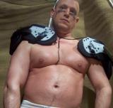 football player big belly stomach gut
