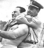 classic vintage pro wrestling police chokehold