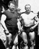 old classic vintage pro wrestling tagteam duo