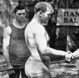 old classic vintage pro wrestling shaking hands