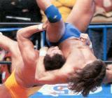 suplex pro wrestling men fighting rings
