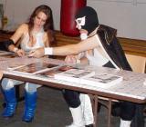 wrestling valets signing autographs